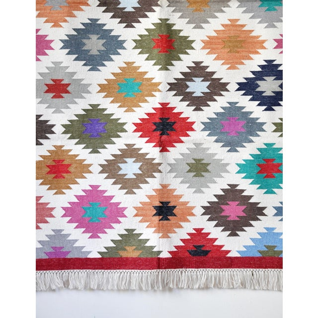 """Contemporary Handwoven """"Kotri"""" Area Rug - 4′ × 6′ For Sale - Image 4 of 7"""