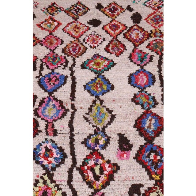 Islamic Hand Knotted Floral Geometric Moroccan - 4' X 7' For Sale - Image 3 of 6