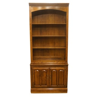 """Ethan Allen Classic Manor 34"""" Cabinet With Open Bookcase For Sale"""
