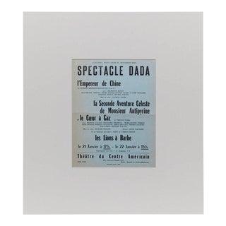 Spectacle Dada Tristan Tzara Ribemont-Dessaignes Coeur a Gaz Bryen, 1960s