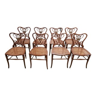 1920s Vintage Theodore Alexander Style Chairs - Set of 8 For Sale