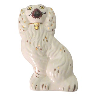 Vintage Staffordshire Style Ceramic Dog
