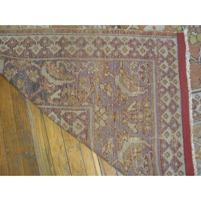"""1910s Antique Moud Rug 8'0"""" X 15'8"""" For Sale - Image 5 of 9"""