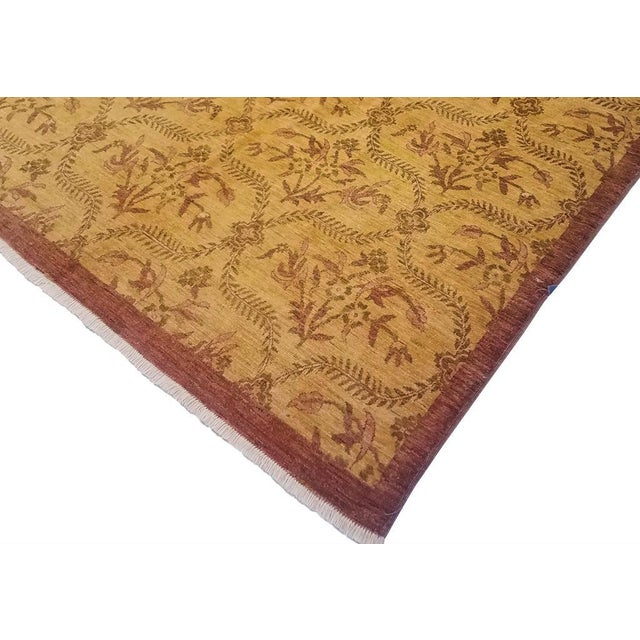 This skillfully hand knotted rug made with the finest quality wool and fashion-now color pallet creates an ultra-modern...