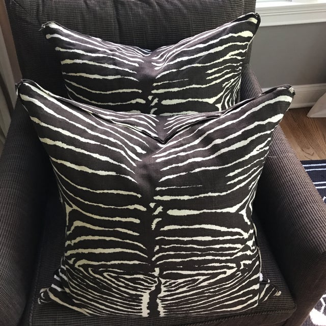 Brunschwig & Fils Le Zebra Pillows- Pair - Image 3 of 7