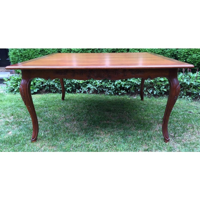 French Louis XV-Style Square Dining Table - Image 2 of 7