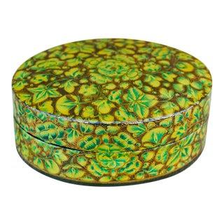 Kashmiri Chartreuse Tikka Box For Sale