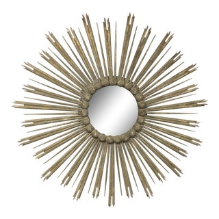 Very Large 52 Inch Sunburst Mirror For Sale