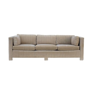 Parsons Sofa in Textured Velvet For Sale