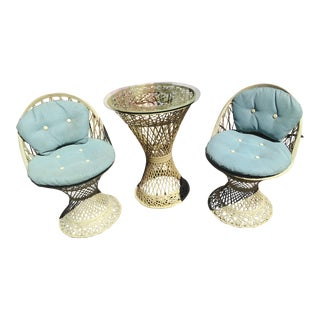Vintage Spun Fiberglass Patio Set - 3 Pc.