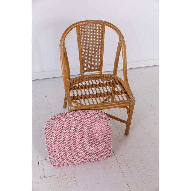 1960s Vintage McGuire Furniture Rattan Dining Chairs- Set of 6 For Sale - Image 11 of 13
