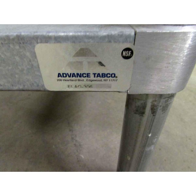 Industrial Stainless Steel Industrial Table With Shelf For Sale - Image 3 of 10