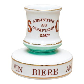 Parisian Cafe French Ceramic Match Striker For Sale