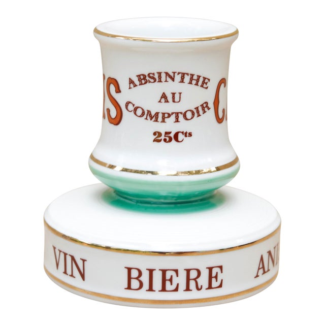Parisian Cafe French Ceramic Match Striker For Sale