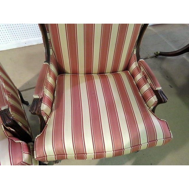 Mid 20th Century Louis XV Style Wingback Chairs - a Pair For Sale - Image 5 of 13