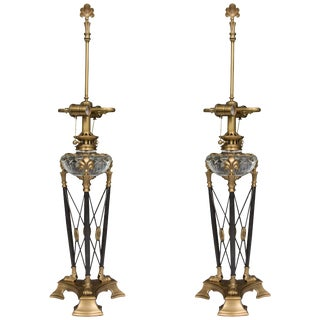 Empire Modern Stylized Empire Table Lamps - a Pair For Sale