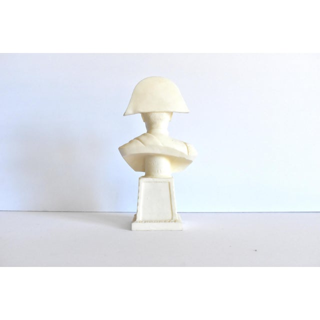 Late 20th Century Vintage Italian Resin Napoleon Bust on Pedestal For Sale - Image 5 of 12