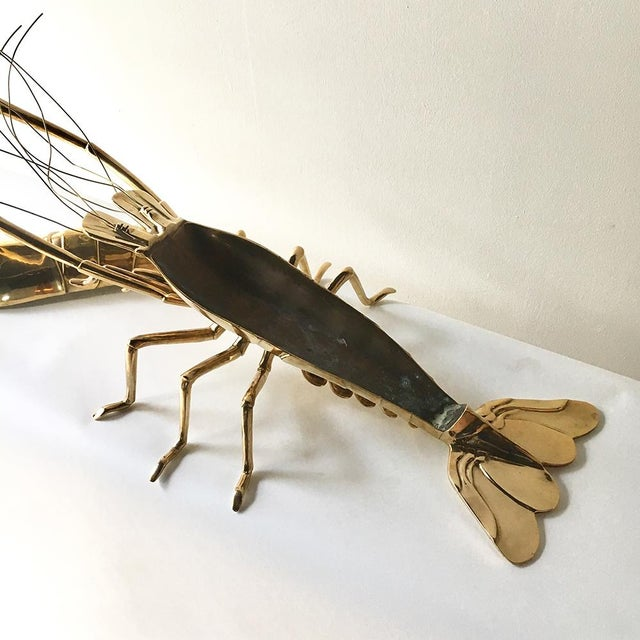 1960s Italian Cast Bronze Model of a Lobster For Sale - Image 6 of 7