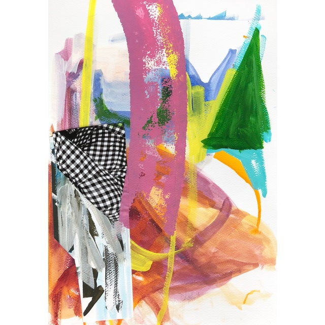 """Watercolor Original Painting on Paper by Diana Delgado """"London Series III (Check)"""" For Sale - Image 7 of 7"""