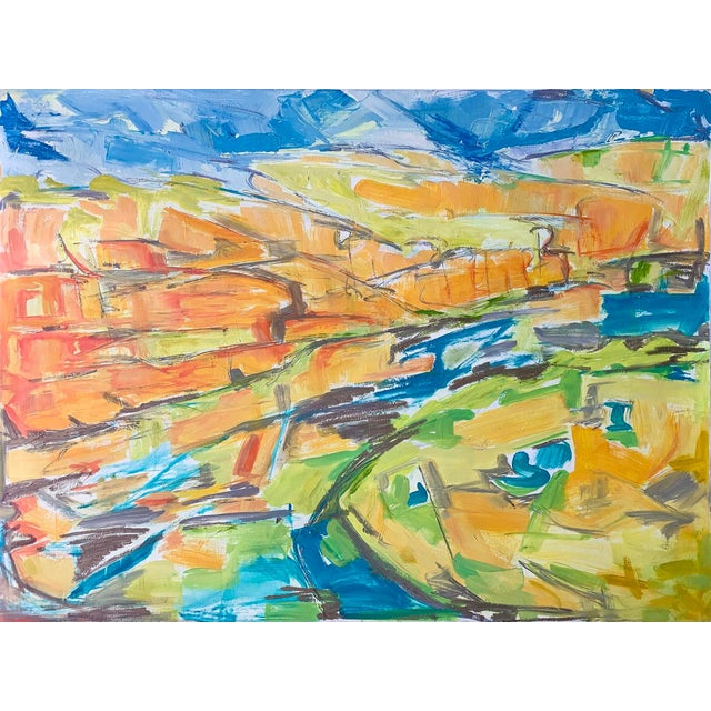 """Kimberley Gorge"" by Trixie Pitts Abstract Landscape Oil Painting For Sale"