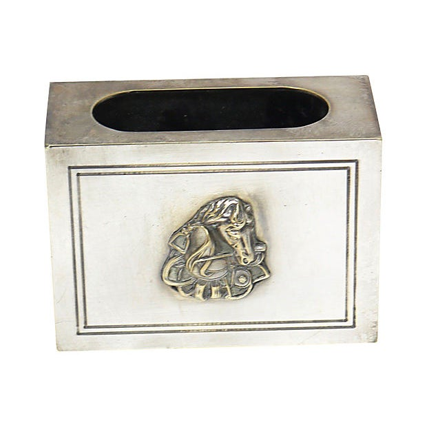 Christian Dior Vintage Christian Dior Horse Match Box Holder For Sale - Image 4 of 4