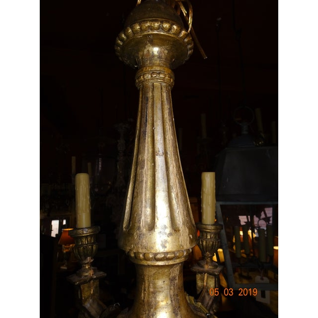 18th Century Italian Gilt Wood Chandelier For Sale In New Orleans - Image 6 of 13