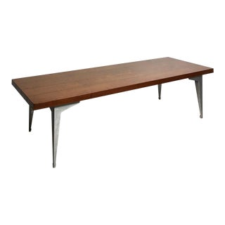 1960s Mid-Century Modern Lane Prophecy Walnut and Aluminum Coffee Table