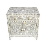 Image of Grey Inlay Bedside Cabinet For Sale