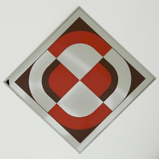Vintage 1970s Op Art Mirror by Turner Design For Sale