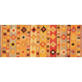"Apadana Turkish Kilim Rug - 3'6"" X 8'1"" For Sale"