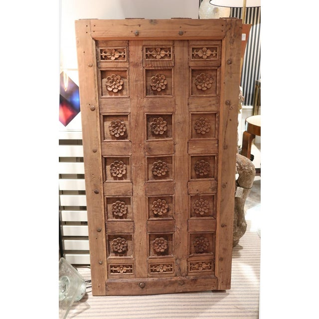 Asian A Carved Wood Ceiling or Painting, XVIIIth century For Sale - Image 3 of 4