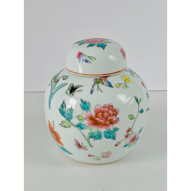 Vintage Chinese Floral Ginger Jar For Sale - Image 11 of 11