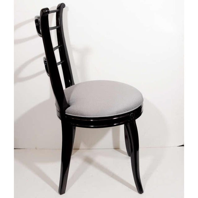 Pair of 1940's Hollywood Lyre Back Occasional Chairs For Sale In New York - Image 6 of 9
