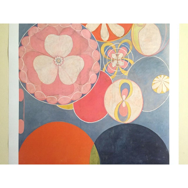 """Abstract Hilma Af Klint Swedish Abstract Lithograph Print Moderna Museet Exhibition Poster """" the Ten Largest, Childhood No.2 Group IV """" 1907 For Sale - Image 3 of 11"""
