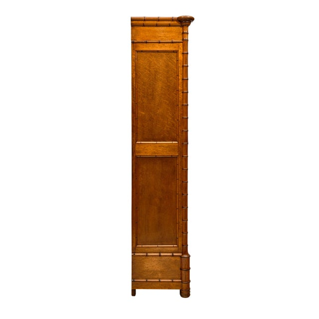 Brown French Antique Bamboo Bonnetiere For Sale - Image 8 of 10