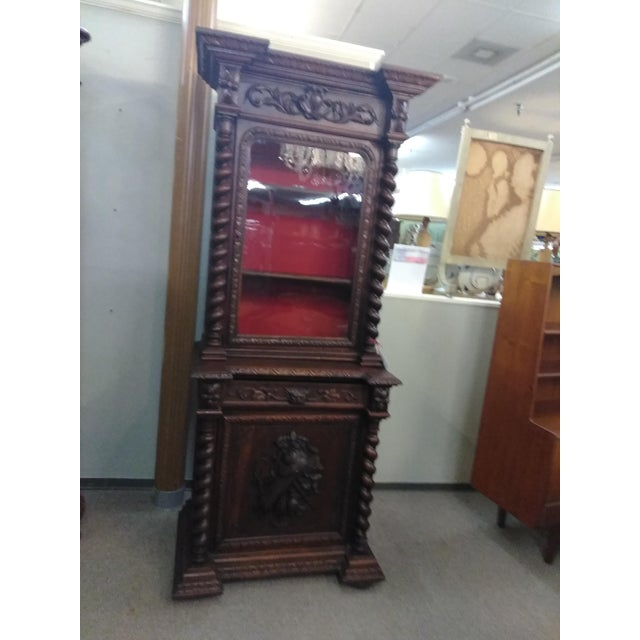 19th Century French Hunter's Cabinet/Bookcase For Sale - Image 4 of 13
