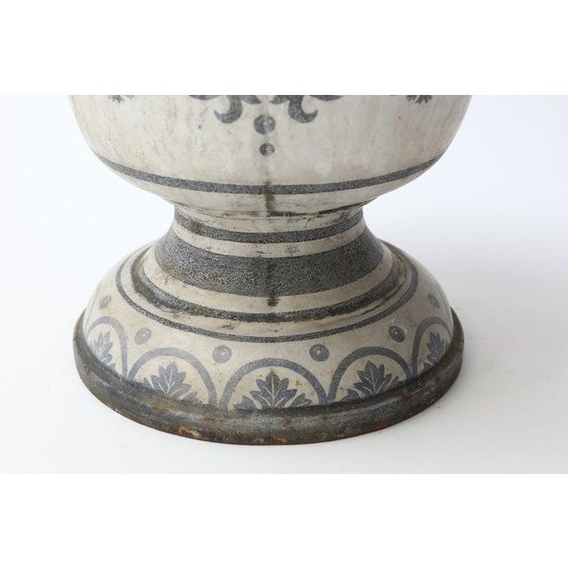 Enameled Cast Iron Rouen Urn For Sale - Image 9 of 13