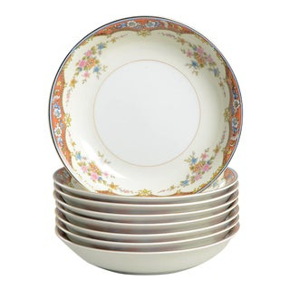 Noritake Floral Design Bowls - Set of 8 For Sale