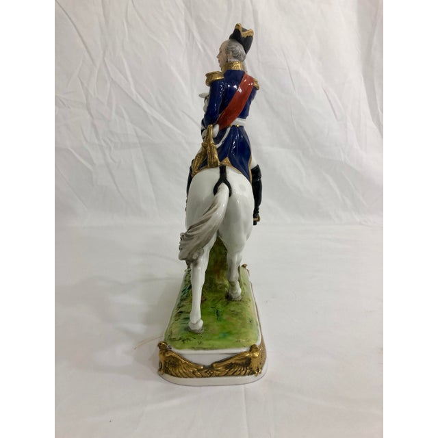 German Porcelain Statue of Napoleonic General Davoust For Sale - Image 4 of 8