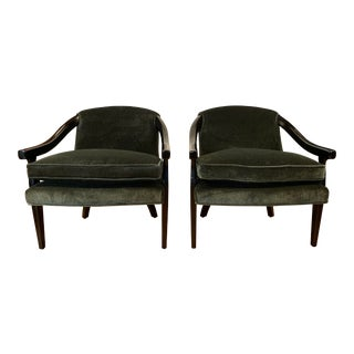 Late 20th Century Sleek Armchairs- A Pair For Sale