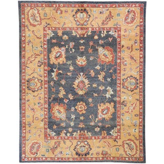 Contemporary Turkish Oushak Rug - 10′3″ × 13′ For Sale