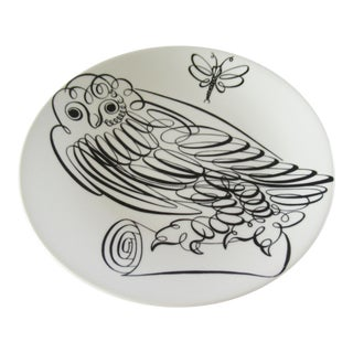 Piero Fornasetti Uccelli Calligrafici Bird Plate #6 C.1962 For Sale