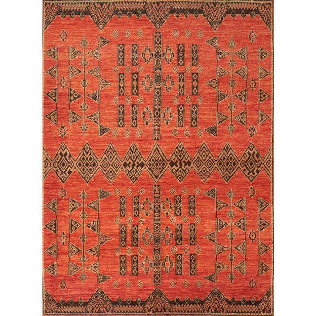 Silk Schumacher Amu Area Rug in Hand-Knotted Wool Silk, Patterson Flynn Martin For Sale - Image 7 of 7