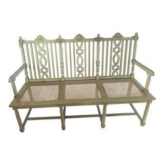 Painted Wood Bench For Sale