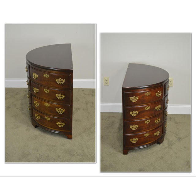 *STORE ITEM #: 19105 Madison Square Demilune Chippendale Chest of Drawers AGE / ORIGIN: Approx. 25 years / America DETAILS...