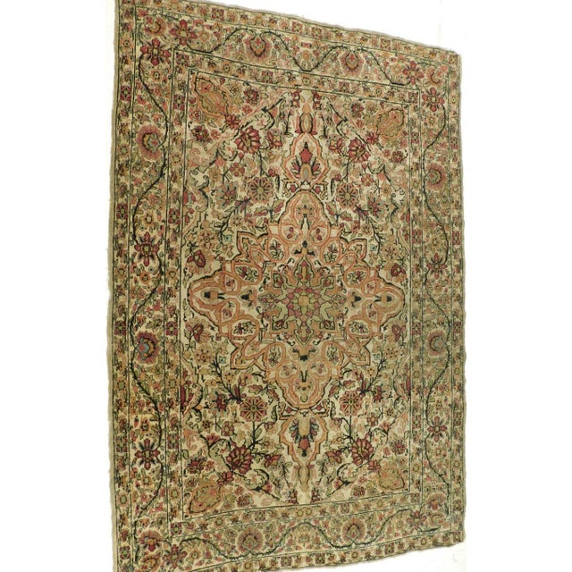 Antique Persian Kerman Lavar Rug - 4′4″ × 6′8″ For Sale - Image 5 of 5