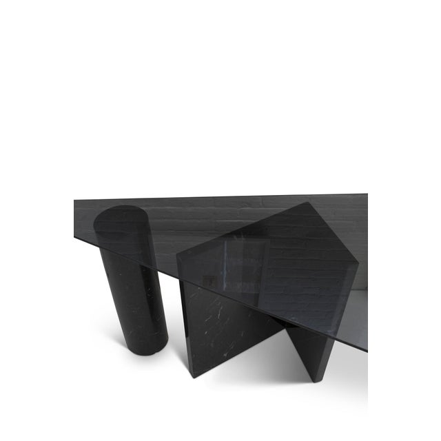 1980s Abstract Marble Console Table For Sale - Image 4 of 6