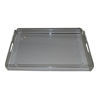 Mid 20th Century Lucite Serving/Bar Tray For Sale