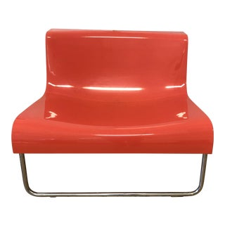 Kartell Piero Lissoni Orange Form Lounge Chair For Sale