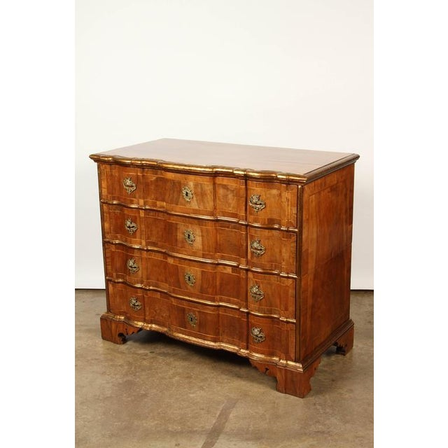Brown Danish Rococo chest of drawers with key For Sale - Image 8 of 10